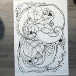 Muster zeichnen - Bambusfeder