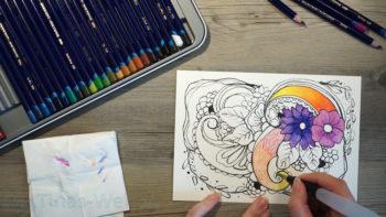 Muster zeichnen - Inktense und Aquabrush