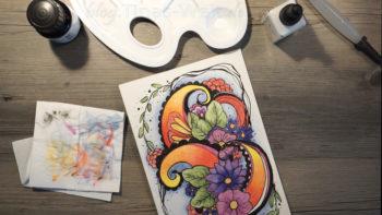 Muster zeichnen - mit Tusche nachschwärzen