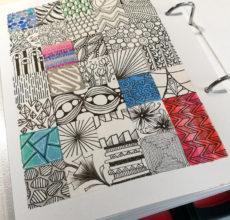 Kalender Doodles / Tangles Juli