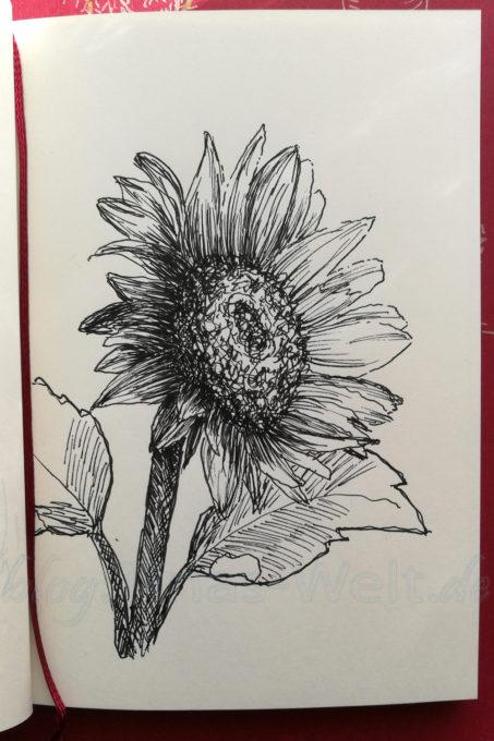 Inktober 2016 Sonnenblume