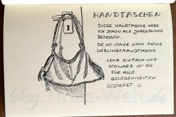 Quick Sketch #7 - alte Handtasche