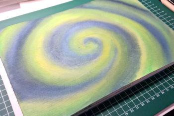 Aquarell-Spirale Hintergrund