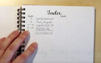 Bullet Journal - Ringbuch - Index