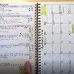 Bullet Journal - Ringbuch - Woche und Monat
