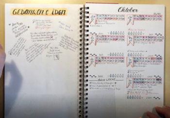 Bullet Journal - Ringbuch - Gedanken und Ideen