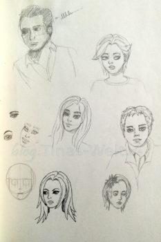 Quick Sketch #12 - verschiedene Portraits