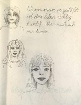 Quick Sketch #14 - verschiedene Portraits