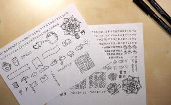 Sticker-Zeichnung-und-Ausdruck_Tinas-Welt