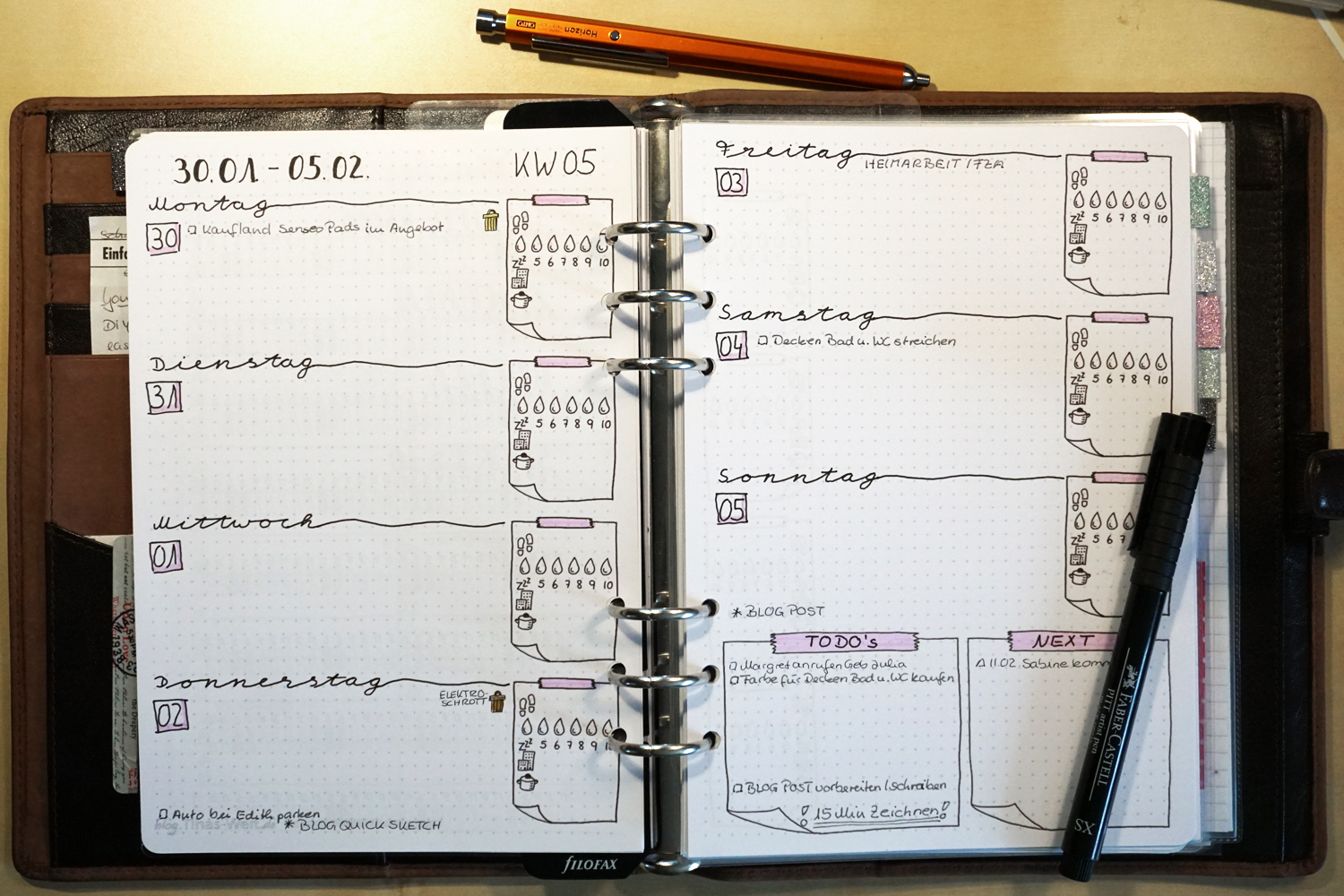 Bullet Journal / Filofax A5 printable – Februar 2017 | blog.Tinas ...