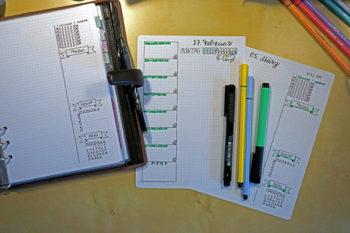 Bullet Journal - Filofax Vorlage März Woche