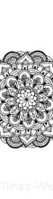 Mandala Zeichnung – auch zum Ausmalen