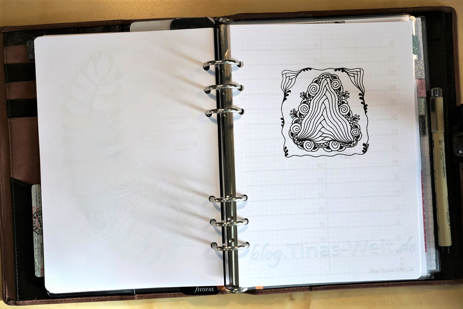 Bullet Journal / Filofax April + Diva Challenge #308 | blog.Tinas ...