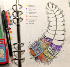 Bullet Journal plus Muster zeichnen