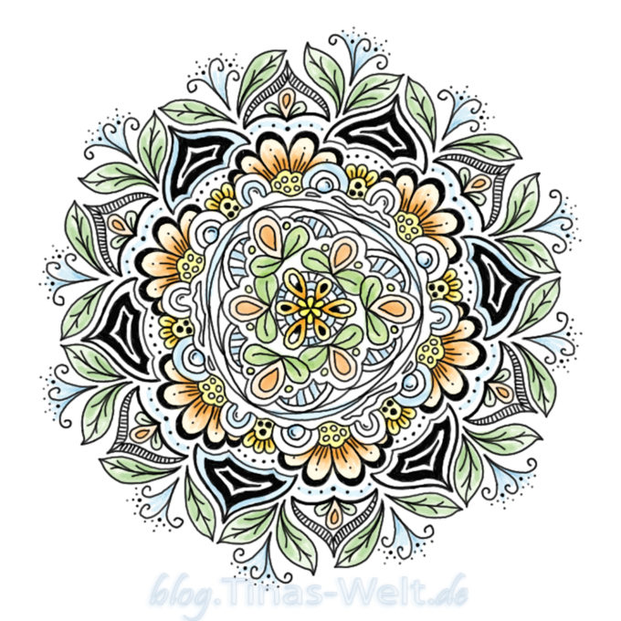 Digitales, farbiges Mandala