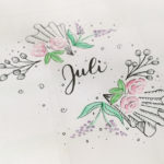Muster Blumen Mix für Juli