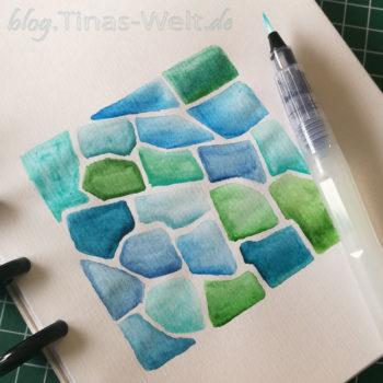 Muster Petoskey Vorbereitung mit Aquarell