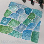 Muster Petoskey mit Glitzer Stiften