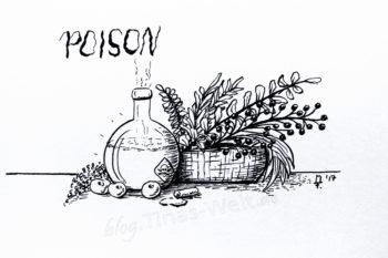 Inktober 2017 - Tag 3 - Poison Detail