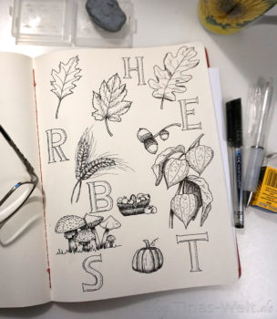 Inktober 2017 Tag 30 - Herbstliches