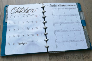 Oktober 2017 Monatsübersicht und Tracker