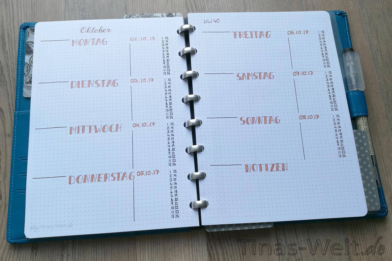 Bullet Journal Oktober Vorlage printable | blog.Tinas-Welt.de