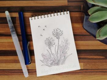 15 Inktober - Pusteblume