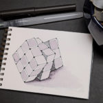 16 Inktober - Rubik Würfel