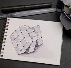 Inktober 2018 – Rubik Würfel