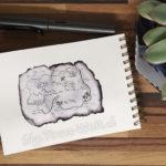 19 Inktober - Schatzkarte